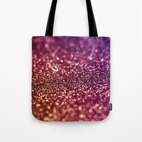 glitter Tote Bags featuring glitter by Shanna Dunn
