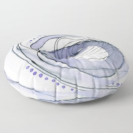 Attempt: ultra-violet abstract work Floor Pillow