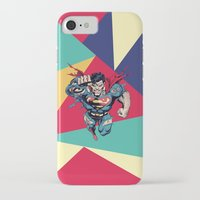 superman iPhone & iPod Cases featuring Superman by Mari Vasilescu