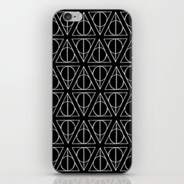 Hand Drawn Deathly Hallows // white  iPhone Skin