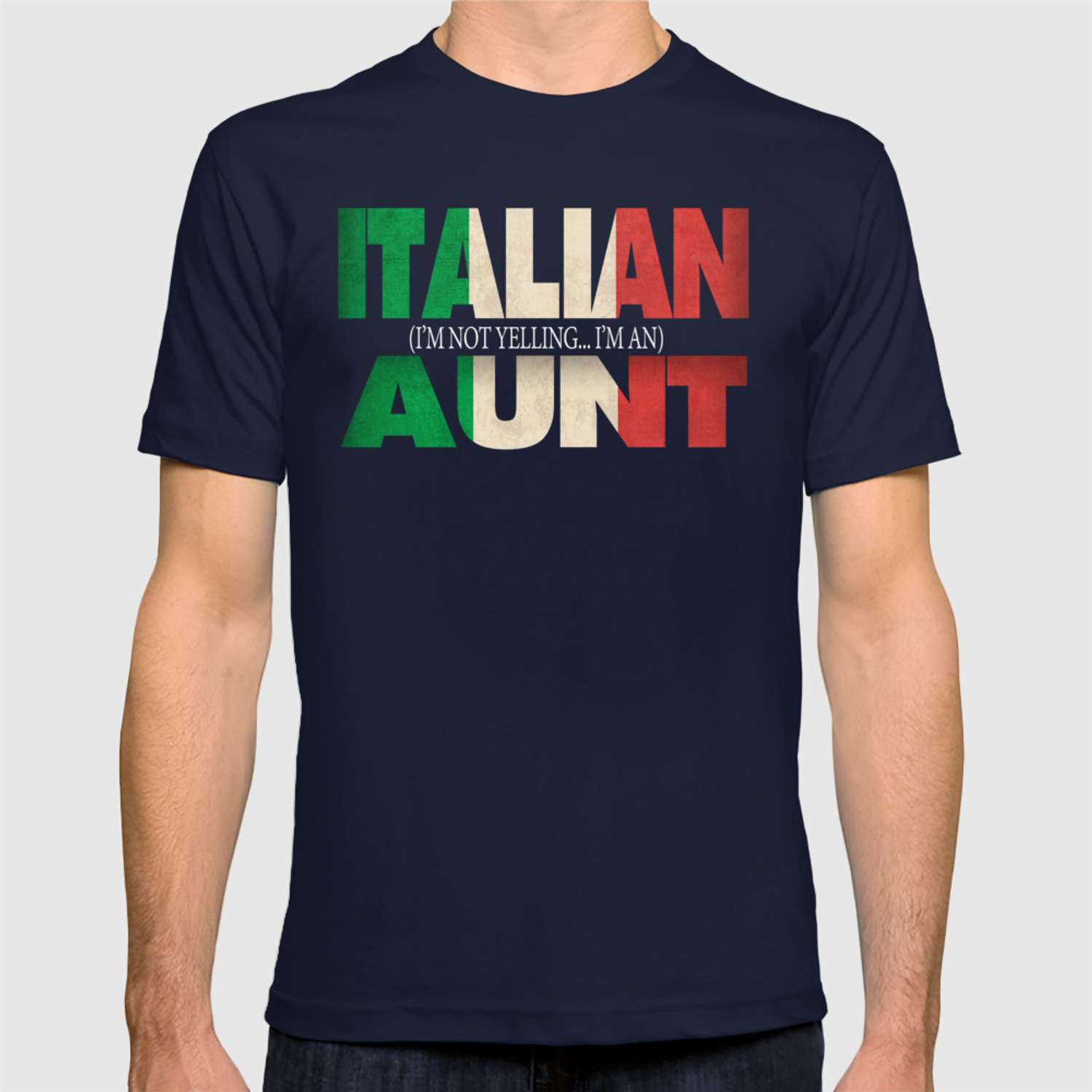 46feab2d4 Funny Italian Aunt Gift Not Yelling Italian Flag T-shirt by ...