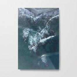 Beach Waves Digital Print, Ocean Water Print, Blue Sea Printable, Sandy Seashore Poster, Blue Water Metal Print