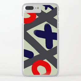 Tic Tac Toe big Clear iPhone Case