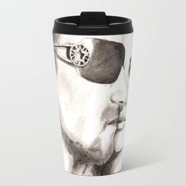 Vogue Magazine Cover. Bono & Penelope Cruz. Fashion Illustration Travel Mug