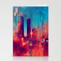 atlanta Stationery Cards featuring Graffiti Atlanta  by Danielle DePalma
