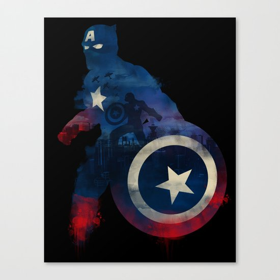 For Truth And Justice Canvas Print