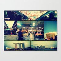 singapore Canvas Prints featuring Singapore by Tal Bright