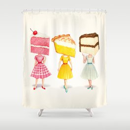 Cake Head Pin-Ups Shower Curtain
