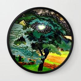 Charles Burchfield Luminous Tree Wall Clock