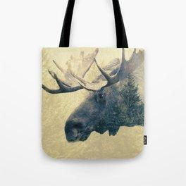 Moose - Double Exposure Tote Bag