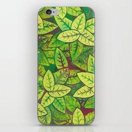 Spring leaves iPhone Skin