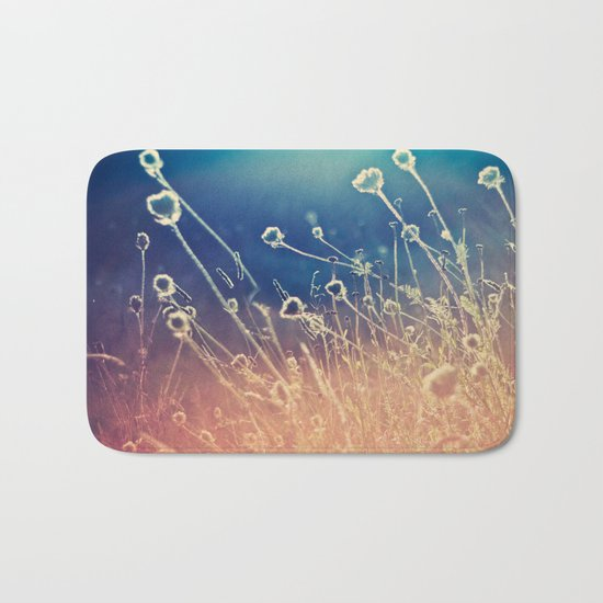 Blue and day  Bath Mat