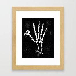 Skeleton Turkey Hand Framed Art Print