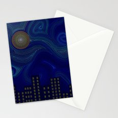 Dashed Night Stationery Cards