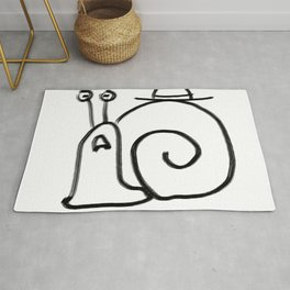 Confuse a Snail Rug