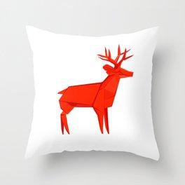 Origami Deer Throw Pillow