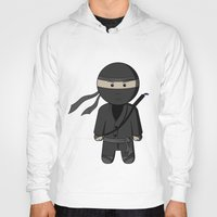 ninja Hoodies featuring Ninja by Shyam13