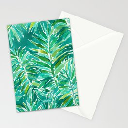 WILD JUNGLE Green Tropical Palm Stationery Cards