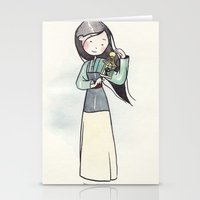 mulan Stationery Cards featuring Mulan by malipi