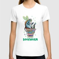 bookworm T-shirts featuring Bookworm by TheVioletWall