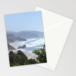 arcadia beach from ecola state park Stationery Cards