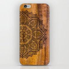 Mandala on wood iPhone & iPod Skin