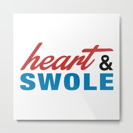 Heart & Swole Metal Print