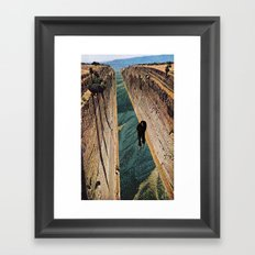 Running water Framed Art Print