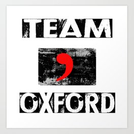 Team Oxford Art Print