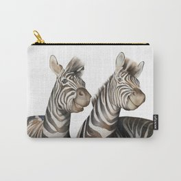 Zebras Watercolor Carry-All Pouch