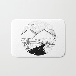 On the way to the desert Bath Mat