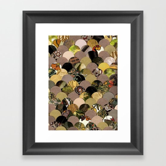 Autumn Scalloped Pattern Framed Art Print
