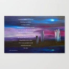 """""""Nightscape #1"""" with poem Canvas Print"""