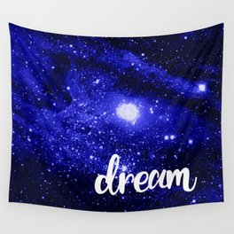 Blue Galaxy Dream Wall Tapestry