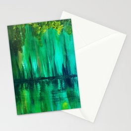 Green reflection Stationery Cards
