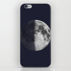 First Quarter Moon on Navy iPhone Skin