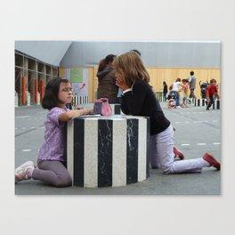 Serious Play at Palais Royal, Paris, 2010 Canvas Print
