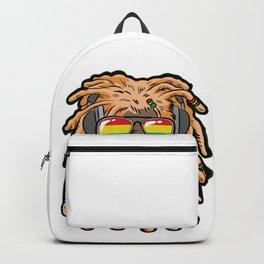 RASTA LION Joint Smoking Weed 420 Ganja Pot Hash Backpack