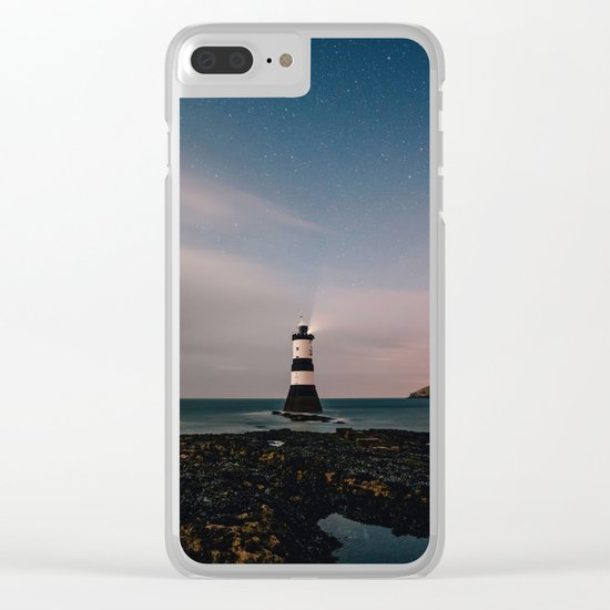 Evening Lighthouse Clear iPhone Case