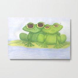 The Frog Lovers  Metal Print