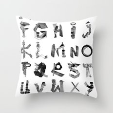 Avalanche ABC Throw Pillow