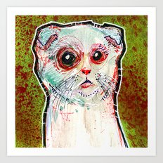 Infected Sugar Cat Art Print