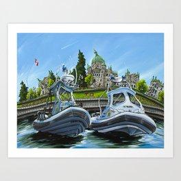 RCMP Boats Art Print