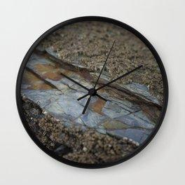 Beautiful Natural Rock Texture Among Barnacles Wall Clock