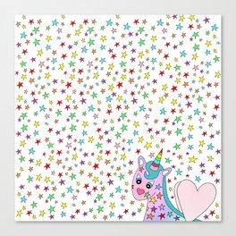 Rainbow the Unicorn Starstruck Canvas Print