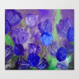 Breaking Dawn in Shades of Deep Blue and Purple Canvas Print