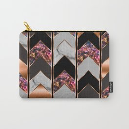 Chevron Peacock Carry-All Pouch