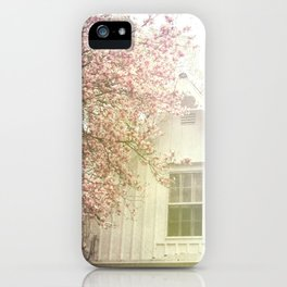 Cottage and Magnolias iPhone Case
