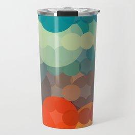 Red & Blue Bubbles Travel Mug