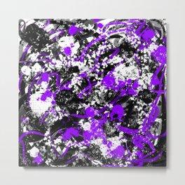 Individualistic Graffiti 4 Black White Purple - Abstract Art Series Metal Print